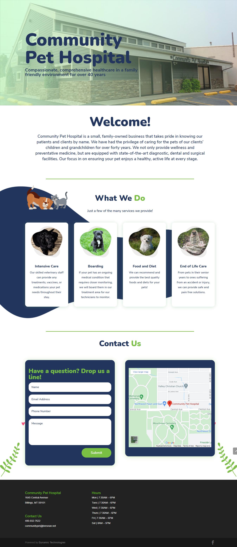 Community Pet Hospital Website